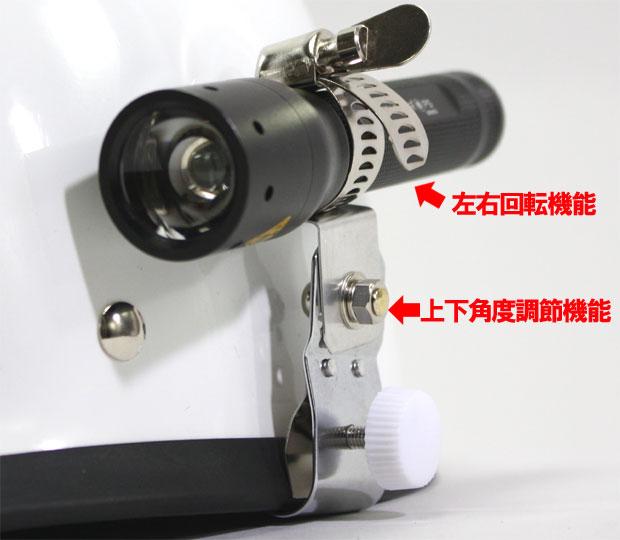 救急帽用ライトホルダー Mサイズ ライト付属品【装着/ヘルメット/警備】