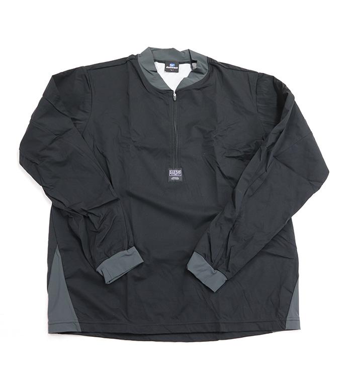 防風 防寒 ストレッチ インナーウェア ウインドフォース トップス SからLL ブラック 上衣のみ 透湿 保温 エバーブレス ファイントラック