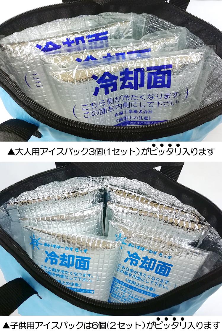 保冷バッグ ミニ ブルー 保冷剤 クーラーバッグ 底マチ付き