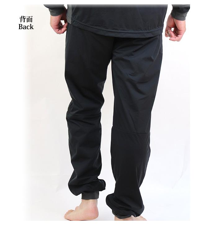 防風 防寒 ストレッチ インナーパンツ ウインドフォース ボトムス 3L 4L ブラック 下衣のみ 透湿 保温 エバーブレス ファイントラック