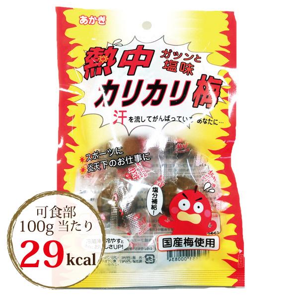【夏期限定-塩味】熱中カリカリ梅 80g