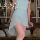 【eleve】Mid High-Low Skirt  スカート ミスティーブルー