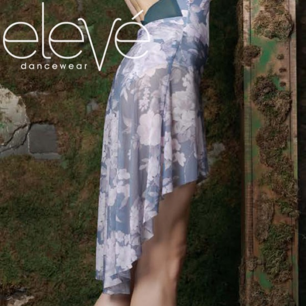 【eleve】Dramatic High-Low Skirt Moody Blues スカート
