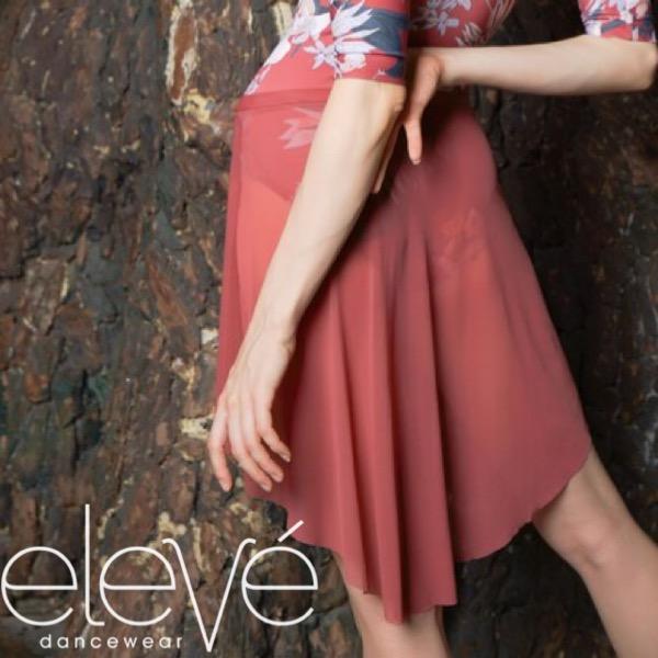 【eleve】Mid High-Low Skirt Cinnamon Mesh スカート