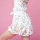 【eleve】 Wrap Dress Daisy Lace