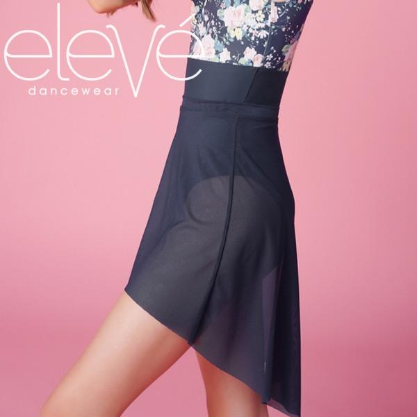 【eleve】 Mid High-Low Skirt Storm Mesh スカート