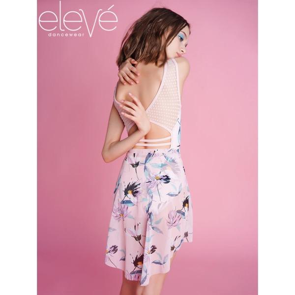 【eleve】 Mid High-Low Skirt Bellini Mesh スカート