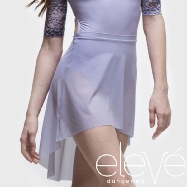【eleve】Mid High-Low Skirt  スカート ラベンダー