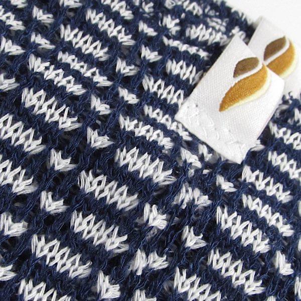 【Rubia Wear】 ショート レッグウォーマー Morse 紺ベース/白ドット  大人用
