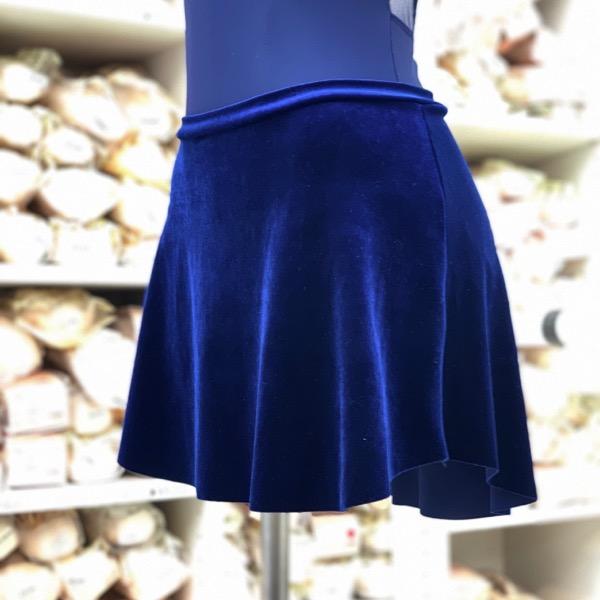 【eleve】Tulip Skirt Cobalt Velvet スカート