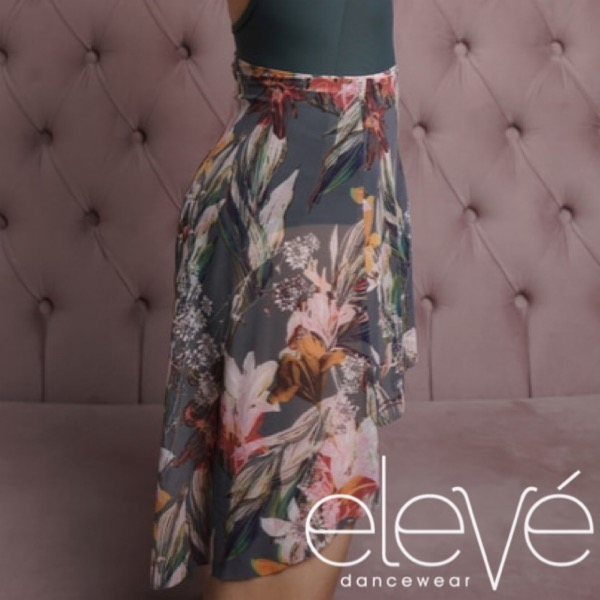 【eleve】Mid High-Low Skirt Forest Lilies スカート