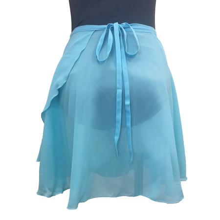 【ボンジュバレリーナ】Q型 巻スカート ジョーゼット