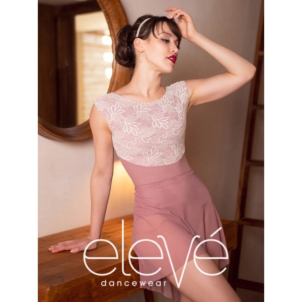 【eleve】Mid High-Low Skirt Quartz Mesh スカート