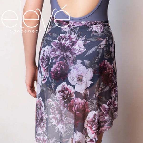 【eleve】Mid High-Low Skirt Dark Romance Mesh スカート