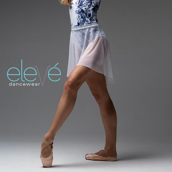 【eleve】Short High Low Mesh スカート