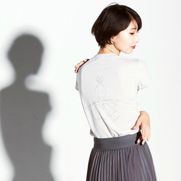 【チャコット×NOZOMI IIJIMA】ART-Tシャツ 0955 数量限定品!