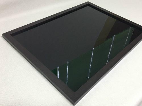 マーカーボード(スチール製) 黒色(木目調枠付き)/ (61cm〜90cm) x (151cm〜180cm) x 厚み2cm