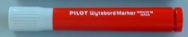 マーカーペン 赤 中字タイプ  /  ペンの長さ:115mm