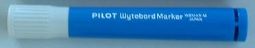 マーカーペン 青 中字タイプ  /  ペンの長さ:115mm