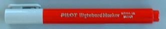 マーカーペン 赤 細字タイプ  /  ペンの長さ:100mm