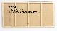 チョークボード(木製)黒色/ (46cm〜60cm) x (151cm〜180cm) x 厚み2.4cm