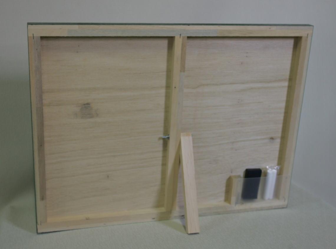 工事写真用黒板(木製) 無地/  タテ45cm x ヨコ60cm x 厚さ2cm 重さ約1.35kg