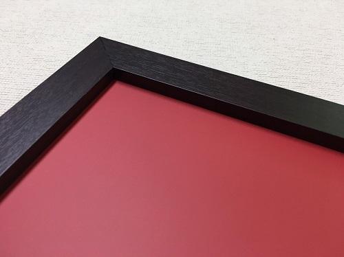 チョークボード(スチール製) 赤色(木目調枠付き)/ (30cm〜45cm) x (30cm〜45cm) x 厚み2cm