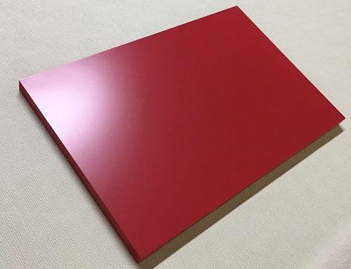 マーカーボード(木製) 赤色 / 60cm x 150cm x 厚み2.4cm  重さ約3.8kg