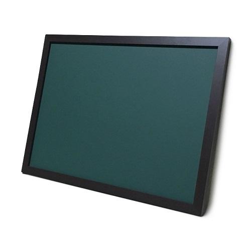 チョークボード(スチール製) 緑色(木目調枠付き) / (46cm〜60cm) x (121cm〜150cm) x 厚み2cm