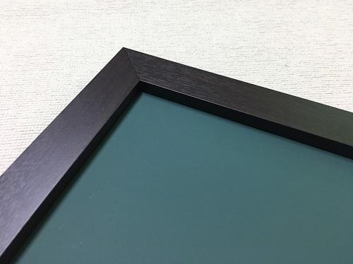 チョークボード(スチール製) 緑色(木目調枠付き)/ (30cm〜45cm) x (151cm〜180cm) x 厚み2cm