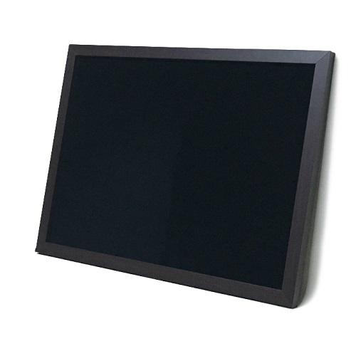 マーカーボード(スチール製) 黒色 木目調枠付き / 90cm x 150cm x 厚み2cm  重さ約10.2kg