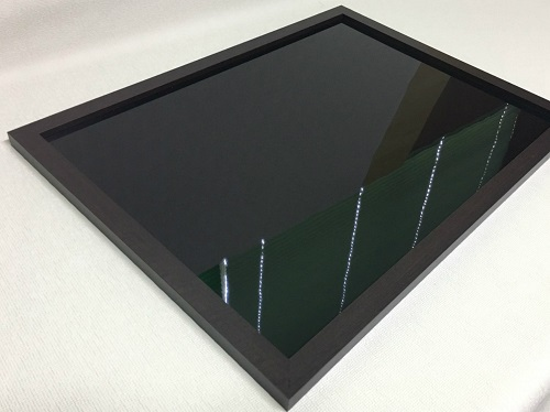 マーカーボード(スチール製) 黒色(木目調枠付き)/ (30cm〜45cm) x (151cm〜180cm) x 厚み2cm