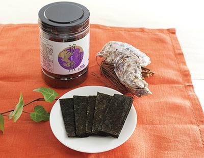 K-60 化粧箱入 広島産かき味付け海苔 汐紫(しおむらさき) 6本詰
