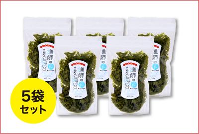 【送料無料】まとめ買いセット 漁師のまかない海苔 × 5袋