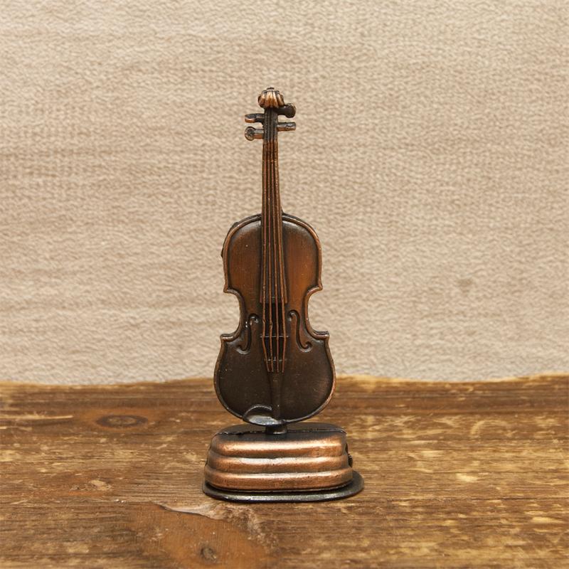 【ミニチュア】アンティークシャープナー[レトロ バイオリン]鉛筆削り<楽器>