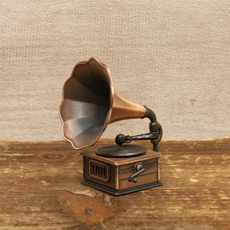 【ミニチュア】アンティークシャープナー[レトロ 蓄音器]鉛筆削り