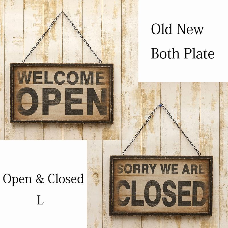"""Old New シリーズ[Both プレート """"OPEN&CLOSED""""L]"""