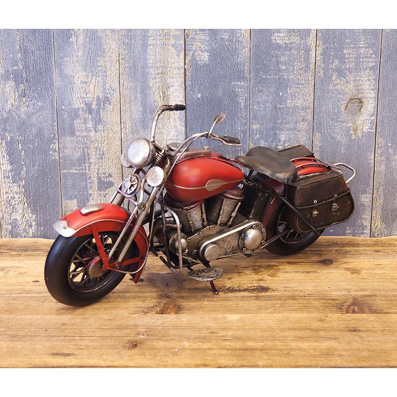 ヴィンテージカー[Old バイク]レッド