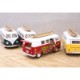 """ダイキャストミニカー(M)[5"""" 1962 VW Classical Bus with Printing &Surfboard]【ロット12台】"""