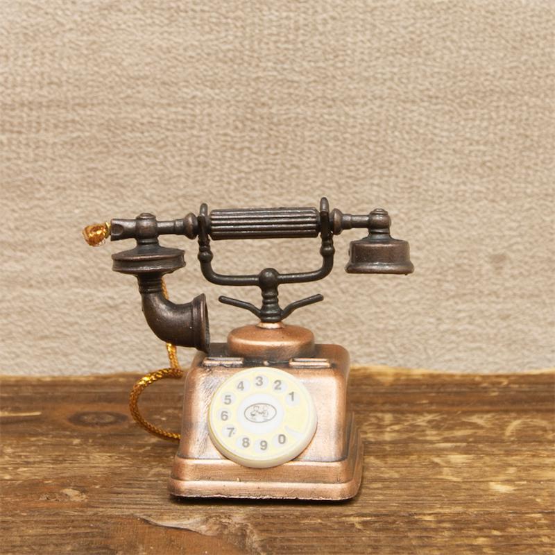 【ミニチュア】アンティークシャープナー[レトロ 電話]鉛筆削り