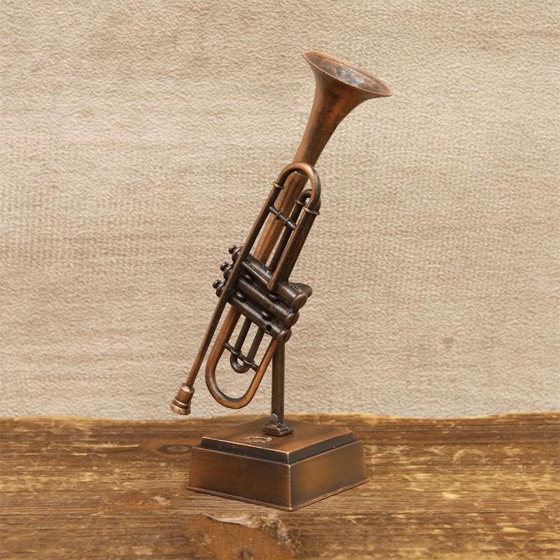 【ミニチュア】アンティークシャープナー[レトロ トランペット]鉛筆削り<楽器>