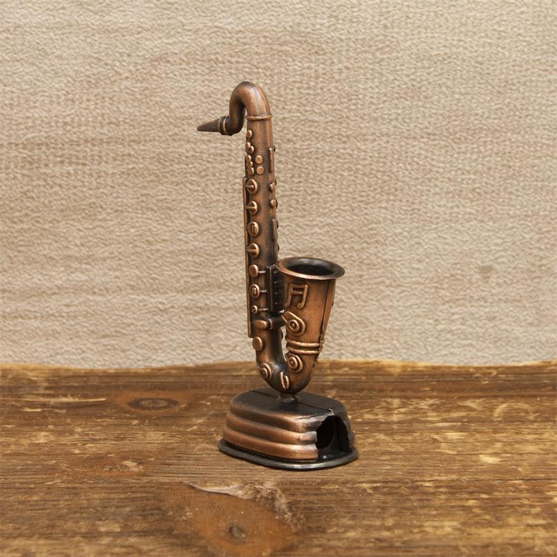 【ミニチュア】アンティークシャープナー[サックス]鉛筆削り<楽器>