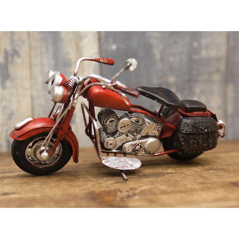 <ミニ>ヴィンテージカー[Old バイク]  RED