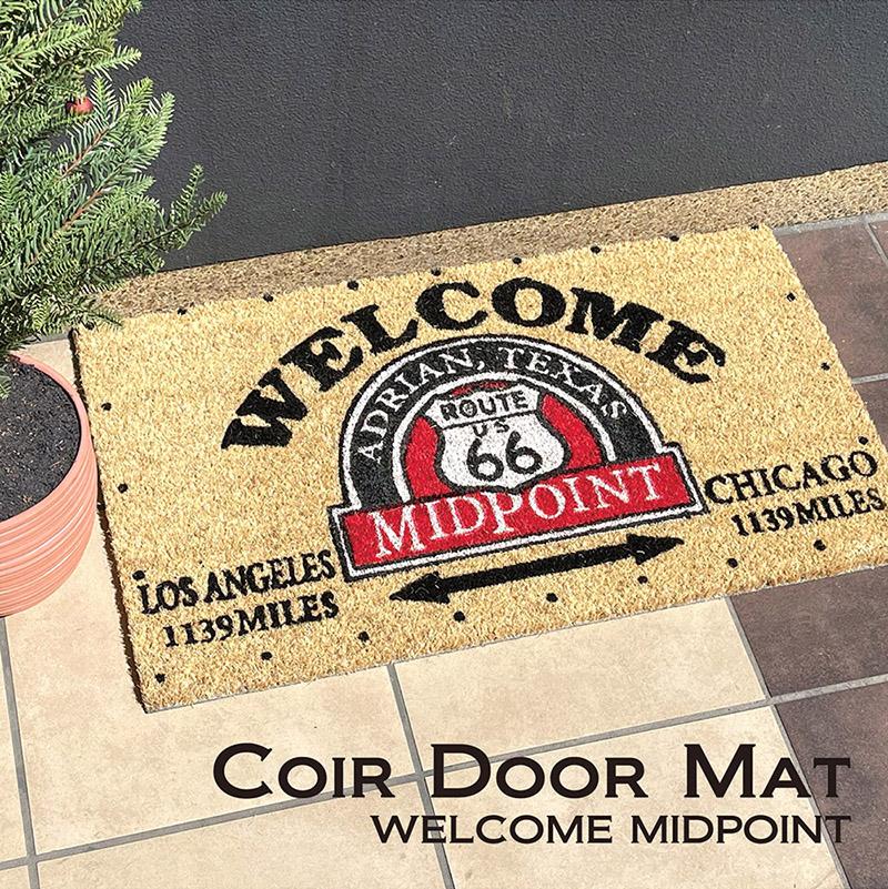 【玄関マット】Coir mat コイヤーマット[WELCOME MIDPOINT]<アメリカン雑貨>