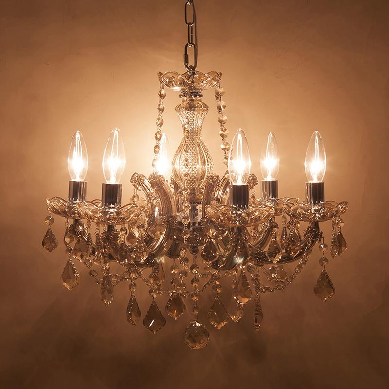 クリスタルガラスシャンデリア[ギャラクシーII] 6灯