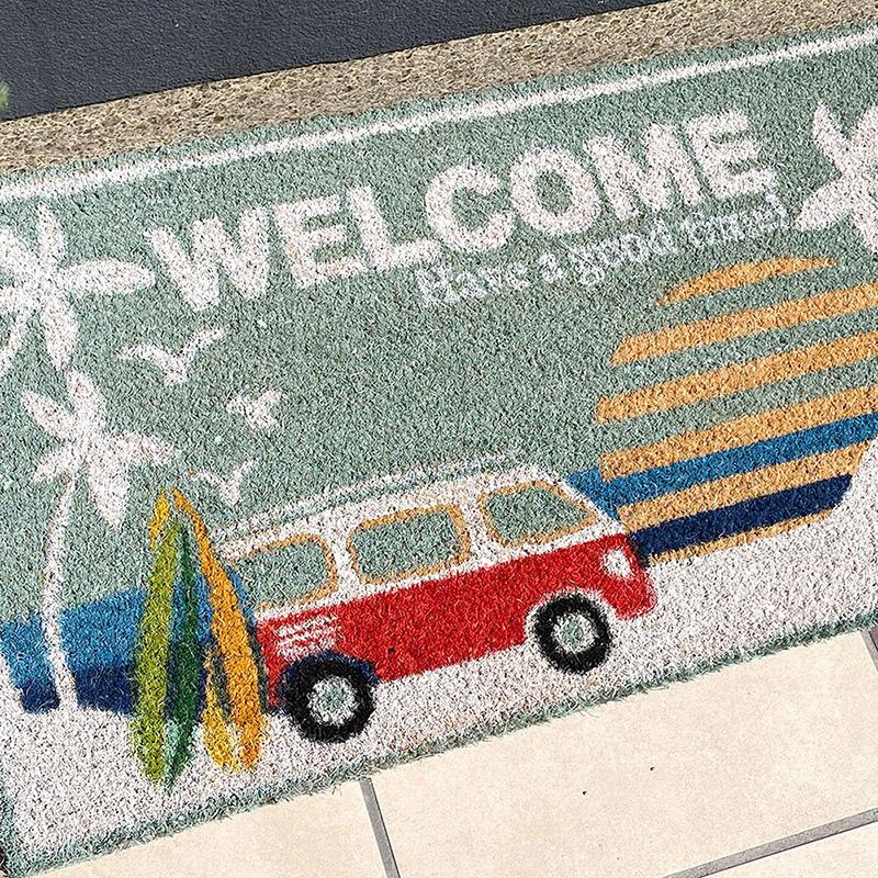 【玄関マット】Coir mat コイヤーマット[WELCOME TO THE BEACH]<アメリカン雑貨>