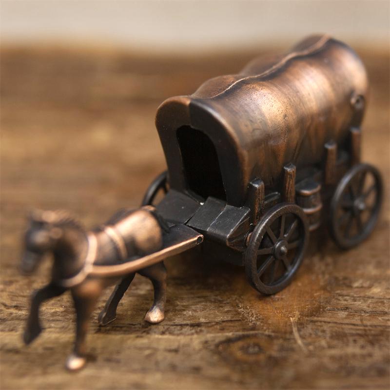 【ミニチュア】アンティークシャープナー[レトロ 幌馬車]鉛筆削り