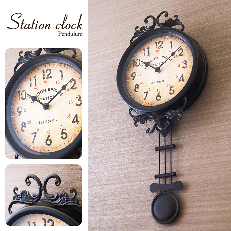 【壁掛時計】ステーションクロック[ペンデュラム]