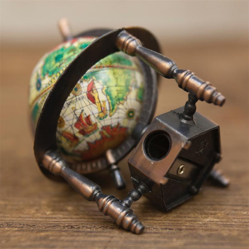 アンティークシャープナー[レトロ 地球儀]鉛筆削り