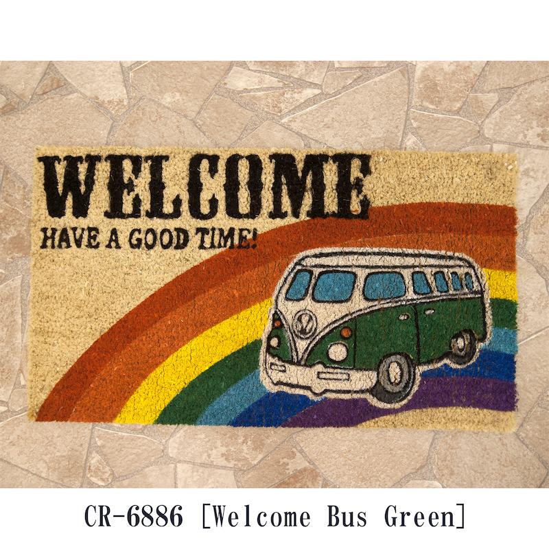 【玄関マット】コイヤーマット[Welcome Bus:レクト]<アメ雑>